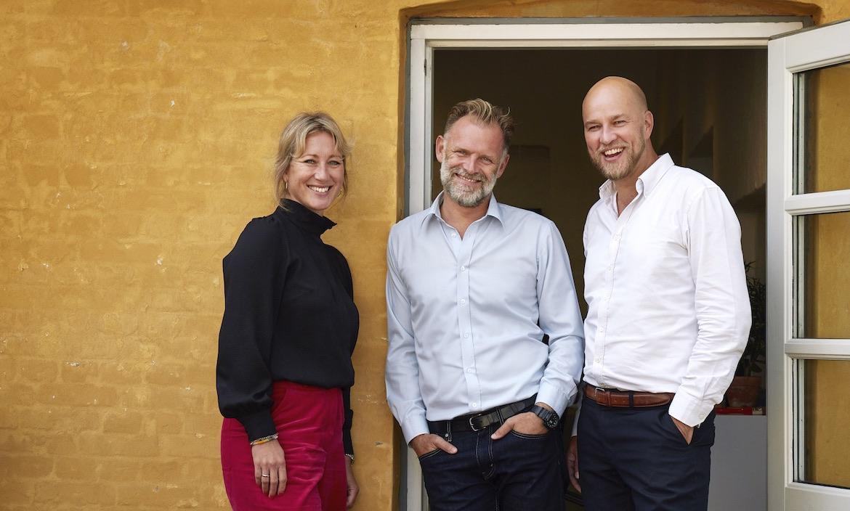 Mette Ljunggren, Henrik Røjgaard og Anders K. Sørensen har stiftet bureauet The Central. Foto. PR